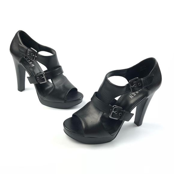 8736ecdf95b Ralph Lauren Black Platform Sandal Shooties Heels